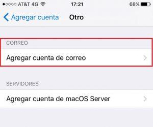 Instalación de correo en iPhone
