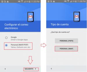 Instalación de correo en dispositivos Android.