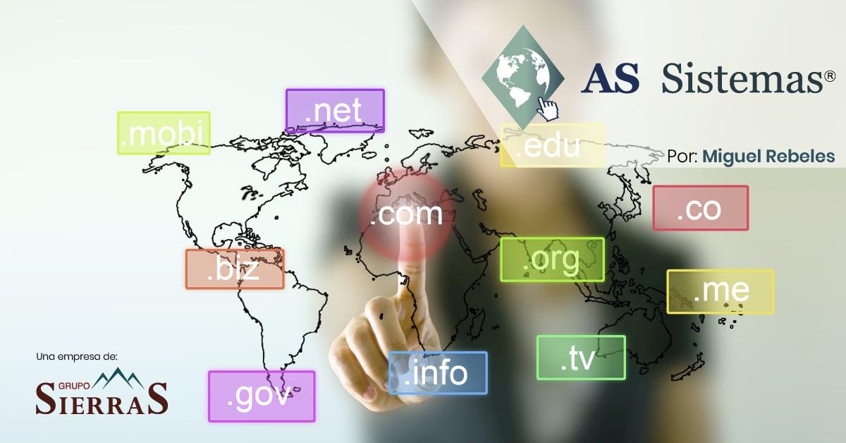 ¿Qué tipos de dominios hay en Internet?
